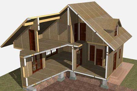 Строительство зданий на основе стеновых SIP панелей в Туле
